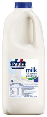FULL CREAM MILK 2LT PAULS PROFESSIONAL